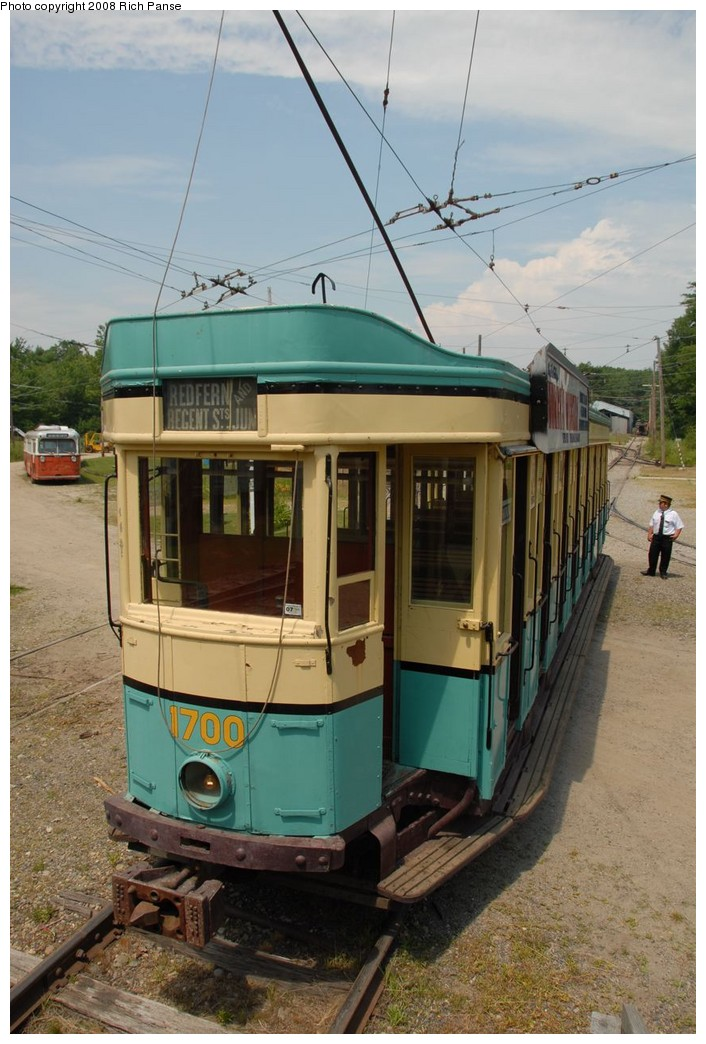 (184k, 706x1044)<br><b>Country:</b> United States<br><b>City:</b> Kennebunk, ME<br><b>System:</b> Seashore Trolley Museum <br><b>Car:</b>  1700 <br><b>Photo by:</b> Richard Panse<br><b>Date:</b> 7/18/2008<br><b>Viewed (this week/total):</b> 2 / 341
