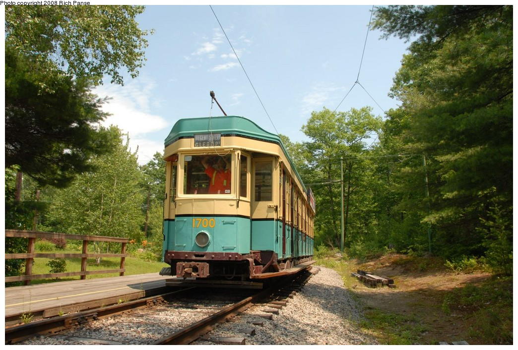(272k, 1044x706)<br><b>Country:</b> United States<br><b>City:</b> Kennebunk, ME<br><b>System:</b> Seashore Trolley Museum <br><b>Car:</b>  1700 <br><b>Photo by:</b> Richard Panse<br><b>Date:</b> 7/18/2008<br><b>Viewed (this week/total):</b> 1 / 244