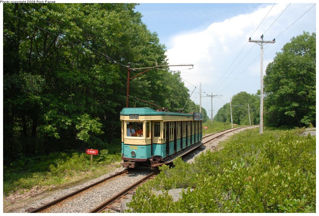 (292k, 1044x706)<br><b>Country:</b> United States<br><b>City:</b> Kennebunk, ME<br><b>System:</b> Seashore Trolley Museum <br><b>Car:</b>  1700 <br><b>Photo by:</b> Richard Panse<br><b>Date:</b> 7/18/2008<br><b>Viewed (this week/total):</b> 1 / 306