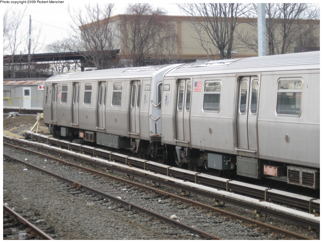 (267k, 1044x788)<br><b>Country:</b> United States<br><b>City:</b> New York<br><b>System:</b> New York City Transit<br><b>Location:</b> East New York Yard/Shops<br><b>Car:</b> R-143 (Kawasaki, 2001-2002) 8200 <br><b>Photo by:</b> Robert Mencher<br><b>Date:</b> 1/5/2009<br><b>Viewed (this week/total):</b> 0 / 525