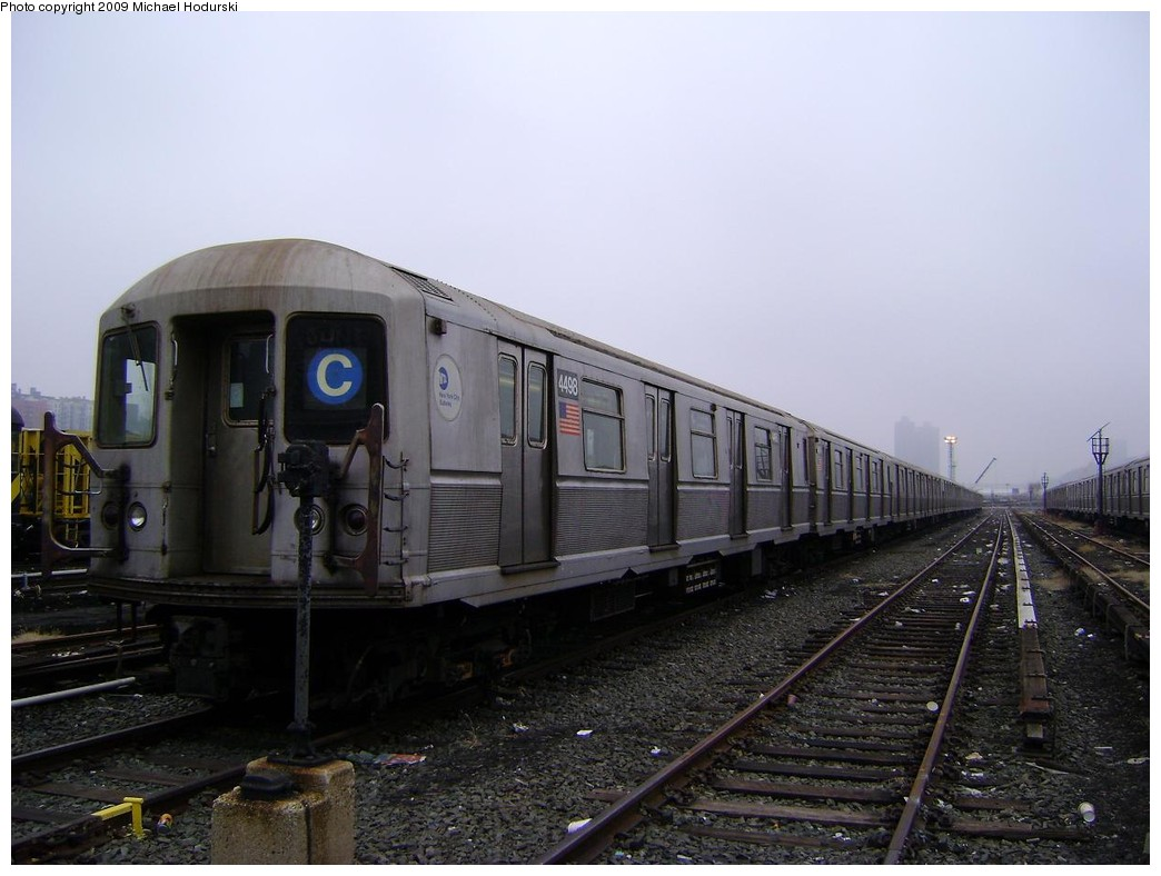 (189k, 1044x788)<br><b>Country:</b> United States<br><b>City:</b> New York<br><b>System:</b> New York City Transit<br><b>Location:</b> 207th Street Yard<br><b>Car:</b> R-40M (St. Louis, 1969)  4498 <br><b>Photo by:</b> Michael Hodurski<br><b>Date:</b> 12/27/2008<br><b>Viewed (this week/total):</b> 1 / 1046