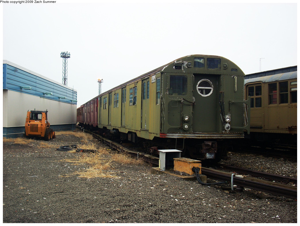 (278k, 1044x788)<br><b>Country:</b> United States<br><b>City:</b> New York<br><b>System:</b> New York City Transit<br><b>Location:</b> Coney Island Yard-Museum Yard<br><b>Car:</b> R-16 (American Car & Foundry, 1955) 6305 <br><b>Photo by:</b> Zach Summer<br><b>Date:</b> 12/27/2008<br><b>Viewed (this week/total):</b> 0 / 1572