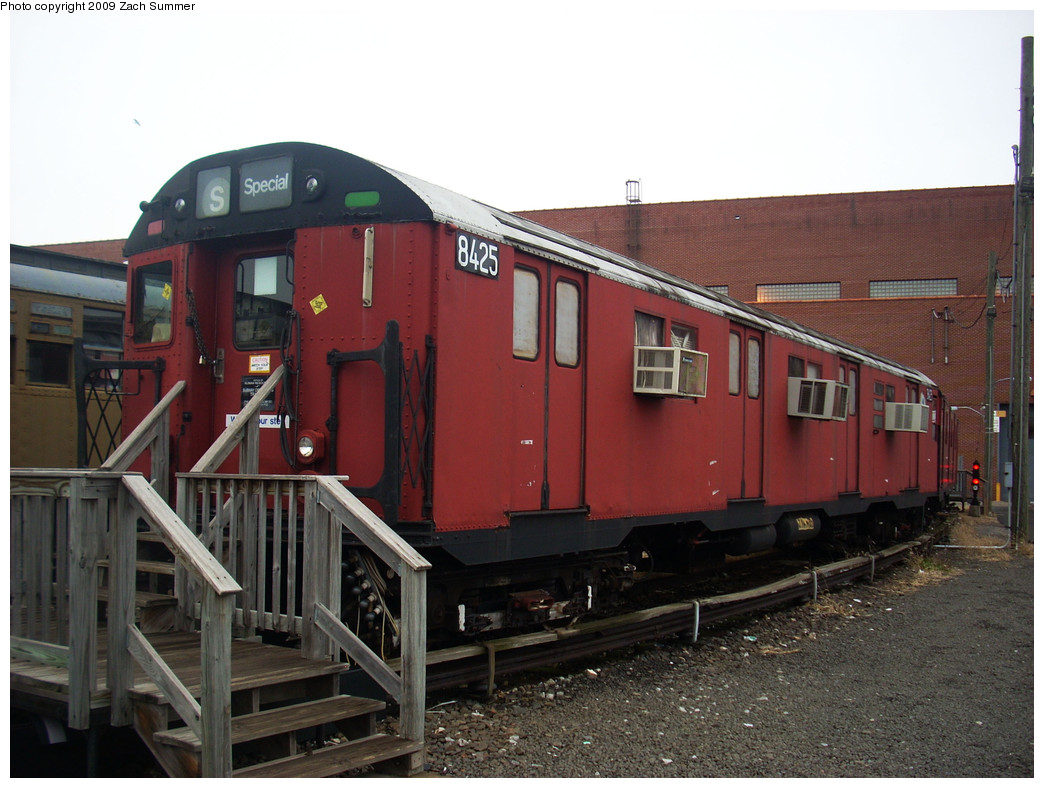 (247k, 1044x788)<br><b>Country:</b> United States<br><b>City:</b> New York<br><b>System:</b> New York City Transit<br><b>Location:</b> Coney Island Yard-Museum Yard<br><b>Car:</b> R-30 (St. Louis, 1961) 8425 <br><b>Photo by:</b> Zach Summer<br><b>Date:</b> 12/27/2008<br><b>Viewed (this week/total):</b> 4 / 1638