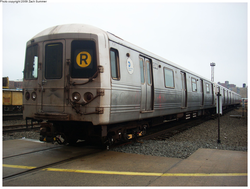 (226k, 1044x788)<br><b>Country:</b> United States<br><b>City:</b> New York<br><b>System:</b> New York City Transit<br><b>Location:</b> Coney Island Yard<br><b>Car:</b> R-46 (Pullman-Standard, 1974-75) 5748 <br><b>Photo by:</b> Zach Summer<br><b>Date:</b> 12/27/2008<br><b>Viewed (this week/total):</b> 1 / 1158