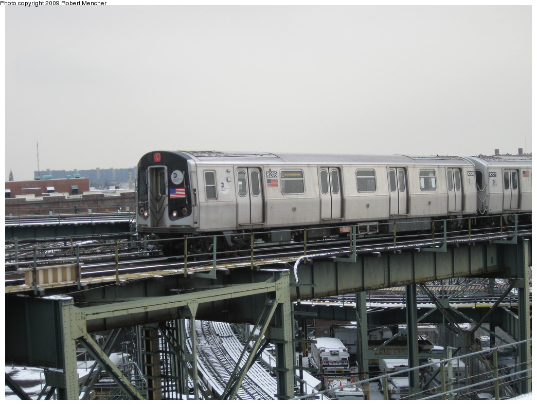 (195k, 1044x788)<br><b>Country:</b> United States<br><b>City:</b> New York<br><b>System:</b> New York City Transit<br><b>Line:</b> BMT Canarsie Line<br><b>Location:</b> Broadway Junction <br><b>Route:</b> L<br><b>Car:</b> R-143 (Kawasaki, 2001-2002) 8208 <br><b>Photo by:</b> Robert Mencher<br><b>Date:</b> 1/19/2009<br><b>Viewed (this week/total):</b> 7 / 944
