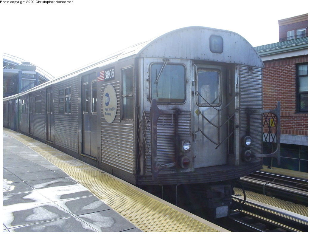(248k, 1044x788)<br><b>Country:</b> United States<br><b>City:</b> New York<br><b>System:</b> New York City Transit<br><b>Location:</b> Coney Island/Stillwell Avenue<br><b>Route:</b> G<br><b>Car:</b> R-32 (Budd, 1964)  3805 <br><b>Photo by:</b> Christopher Henderson<br><b>Date:</b> 1/24/2009<br><b>Viewed (this week/total):</b> 0 / 877