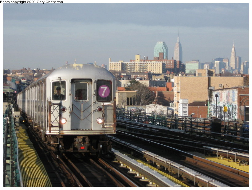 (143k, 820x620)<br><b>Country:</b> United States<br><b>City:</b> New York<br><b>System:</b> New York City Transit<br><b>Line:</b> IRT Flushing Line<br><b>Location:</b> 74th Street/Broadway <br><b>Route:</b> 7<br><b>Car:</b> R-62A (Bombardier, 1984-1987)  2042 <br><b>Photo by:</b> Gary Chatterton<br><b>Date:</b> 12/4/2008<br><b>Viewed (this week/total):</b> 1 / 848