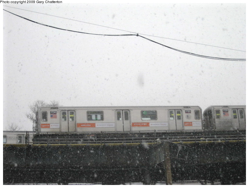 (112k, 820x620)<br><b>Country:</b> United States<br><b>City:</b> New York<br><b>System:</b> New York City Transit<br><b>Line:</b> IRT Flushing Line<br><b>Location:</b> Willets Point/Mets (fmr. Shea Stadium) <br><b>Route:</b> 7<br><b>Car:</b> R-62A (Bombardier, 1984-1987)  1730 <br><b>Photo by:</b> Gary Chatterton<br><b>Date:</b> 2/3/2009<br><b>Viewed (this week/total):</b> 2 / 1027