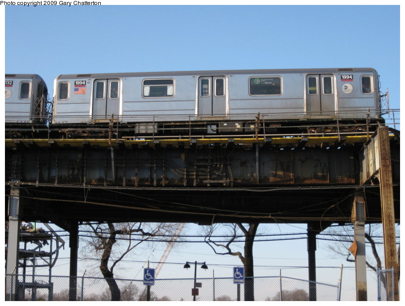 (133k, 820x620)<br><b>Country:</b> United States<br><b>City:</b> New York<br><b>System:</b> New York City Transit<br><b>Line:</b> IRT Flushing Line<br><b>Location:</b> Willets Point/Mets (fmr. Shea Stadium) <br><b>Route:</b> 7<br><b>Car:</b> R-62A (Bombardier, 1984-1987)  1994 <br><b>Photo by:</b> Gary Chatterton<br><b>Date:</b> 2/8/2009<br><b>Viewed (this week/total):</b> 0 / 1116