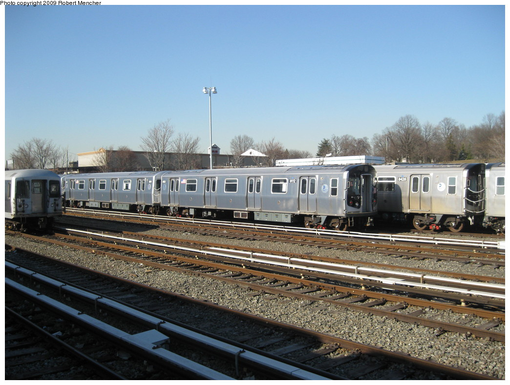 (245k, 1044x788)<br><b>Country:</b> United States<br><b>City:</b> New York<br><b>System:</b> New York City Transit<br><b>Location:</b> East New York Yard/Shops<br><b>Car:</b> R-143 (Kawasaki, 2001-2002) 8112 <br><b>Photo by:</b> Robert Mencher<br><b>Date:</b> 2/25/2009<br><b>Viewed (this week/total):</b> 3 / 634