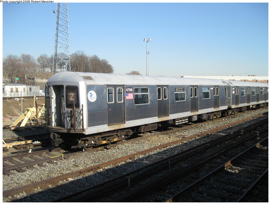 (235k, 1044x788)<br><b>Country:</b> United States<br><b>City:</b> New York<br><b>System:</b> New York City Transit<br><b>Location:</b> East New York Yard/Shops<br><b>Car:</b> R-42 (St. Louis, 1969-1970)  4796 <br><b>Photo by:</b> Robert Mencher<br><b>Date:</b> 2/25/2009<br><b>Viewed (this week/total):</b> 0 / 947