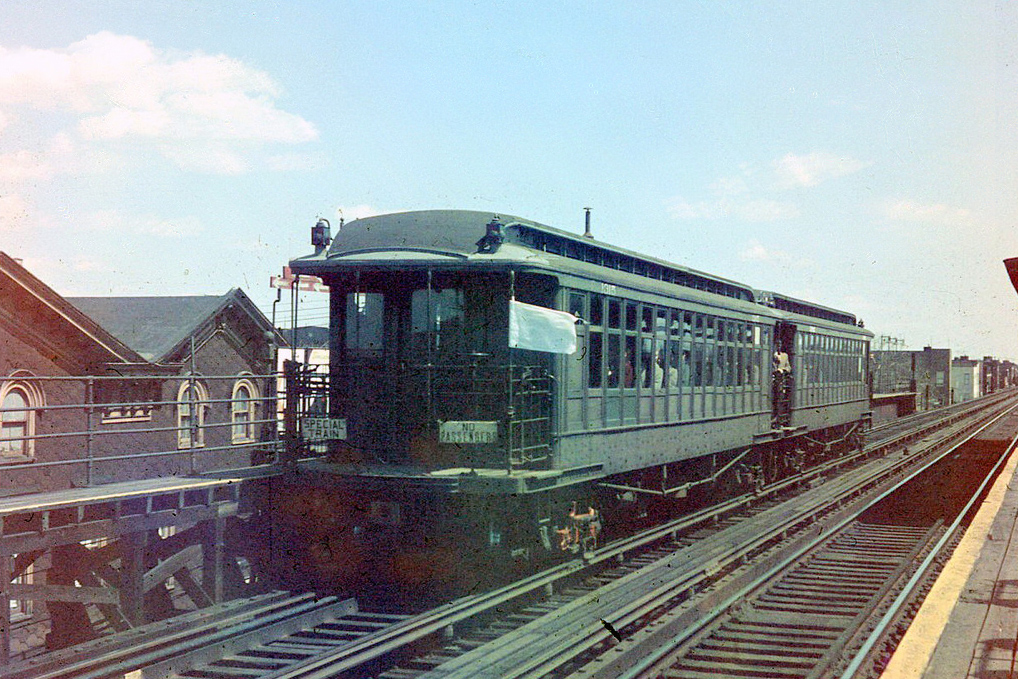 (243k, 811x588)<br><b>Country:</b> United States<br><b>City:</b> New York<br><b>System:</b> New York City Transit<br><b>Location:</b> Coney Island Yard<br><b>Car:</b> R-3 Motor Flat Car (Drill Motor) (Magor Car, 1932)  42/41 <br><b>Photo by:</b> Joel Shanus<br><b>Viewed (this week/total):</b> 4 / 1180
