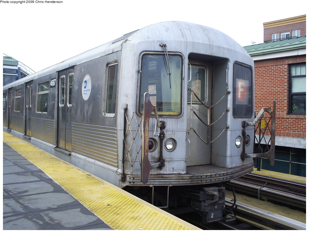 (267k, 1044x788)<br><b>Country:</b> United States<br><b>City:</b> New York<br><b>System:</b> New York City Transit<br><b>Location:</b> Coney Island/Stillwell Avenue<br><b>Route:</b> F<br><b>Car:</b> R-42 (St. Louis, 1969-1970)  4687 <br><b>Photo by:</b> Christopher Henderson<br><b>Date:</b> 2/18/2009<br><b>Viewed (this week/total):</b> 3 / 867