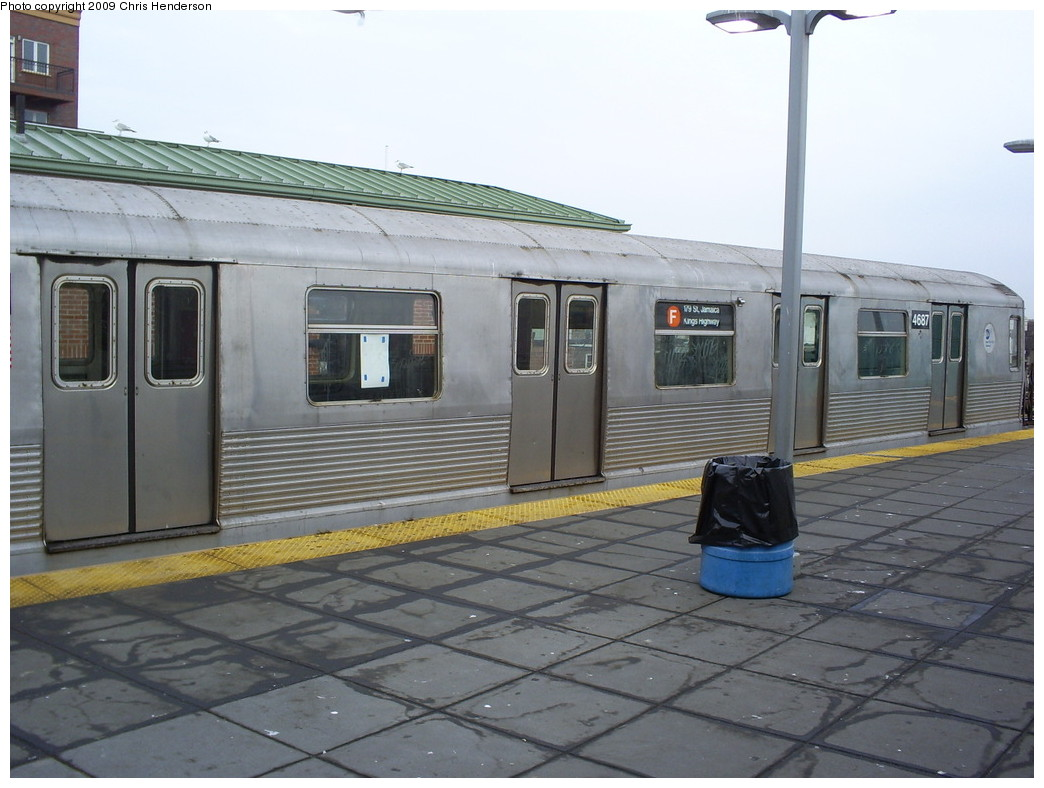 (229k, 1044x788)<br><b>Country:</b> United States<br><b>City:</b> New York<br><b>System:</b> New York City Transit<br><b>Location:</b> Coney Island/Stillwell Avenue<br><b>Route:</b> F<br><b>Car:</b> R-42 (St. Louis, 1969-1970)  4687 <br><b>Photo by:</b> Christopher Henderson<br><b>Date:</b> 2/18/2009<br><b>Viewed (this week/total):</b> 2 / 1536