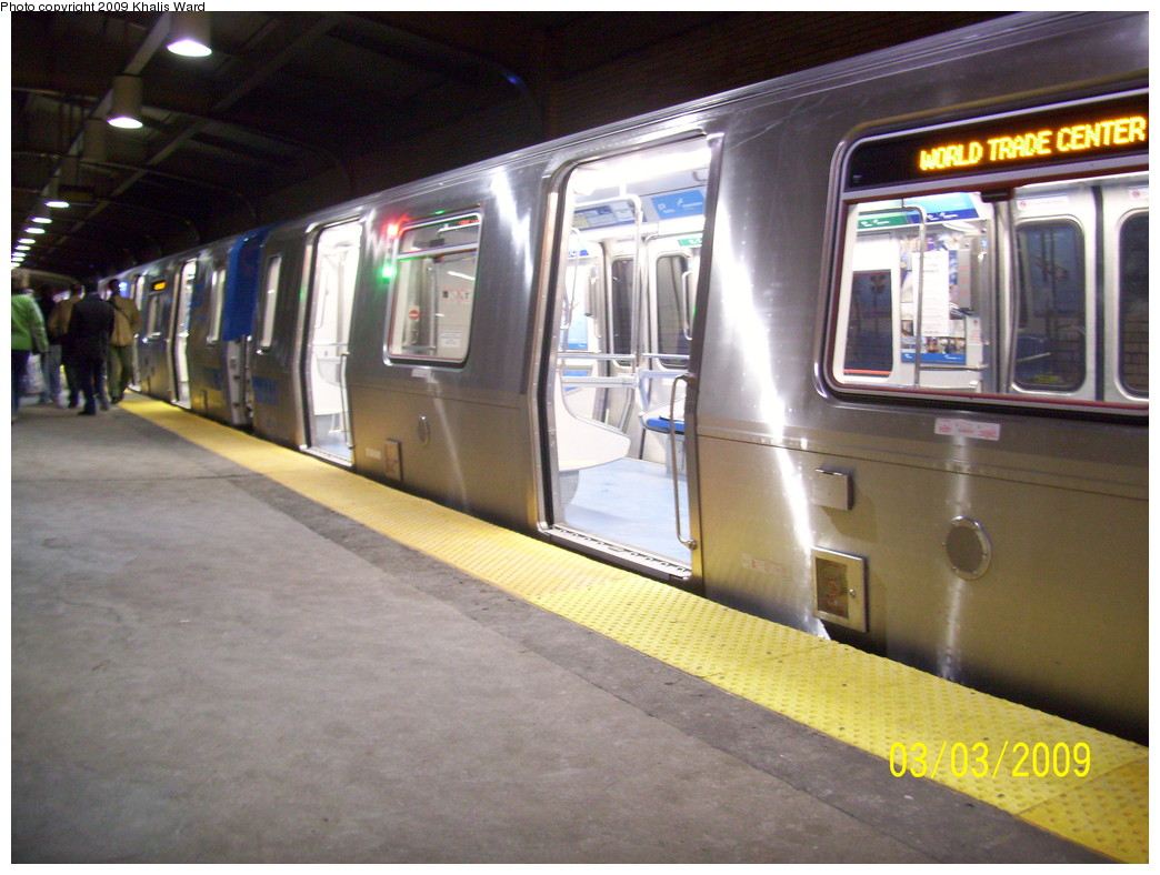 (235k, 1044x788)<br><b>Country:</b> United States<br><b>City:</b> Newark, NJ<br><b>System:</b> PATH<br><b>Location:</b> Newark (Penn Station) <br><b>Car:</b> PATH PA-5 (Kawasaki, 2009-2011) 5603 <br><b>Photo by:</b> Khalis Ward<br><b>Date:</b> 3/3/2009<br><b>Viewed (this week/total):</b> 0 / 1608