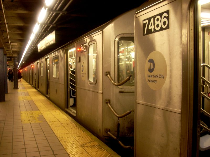(113k, 800x600)<br><b>Country:</b> United States<br><b>City:</b> New York<br><b>System:</b> New York City Transit<br><b>Line:</b> IRT East Side Line<br><b>Location:</b> 51st Street <br><b>Route:</b> 6<br><b>Car:</b> R-142A (Primary Order, Kawasaki, 1999-2002)  7486 <br><b>Photo by:</b> Bill E.<br><b>Date:</b> 3/1/2009<br><b>Viewed (this week/total):</b> 1 / 1348