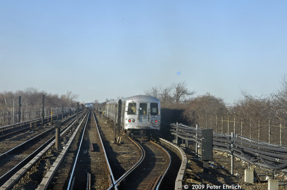 (183k, 930x618)<br><b>Country:</b> United States<br><b>City:</b> New York<br><b>System:</b> New York City Transit<br><b>Line:</b> IND Rockaway<br><b>Location:</b> Broad Channel <br><b>Route:</b> A<br><b>Car:</b> R-44 (St. Louis, 1971-73) 5206 <br><b>Photo by:</b> Peter Ehrlich<br><b>Date:</b> 2/24/2009<br><b>Notes:</b> Broad Channel, layup area for shuttles<br><b>Viewed (this week/total):</b> 6 / 1083
