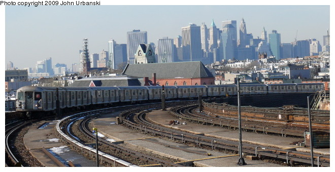(85k, 660x339)<br><b>Country:</b> United States<br><b>City:</b> New York<br><b>System:</b> New York City Transit<br><b>Line:</b> IND Crosstown Line<br><b>Location:</b> Smith/9th Street <br><b>Route:</b> F<br><b>Car:</b> R-40M (St. Louis, 1969)  4502 <br><b>Photo by:</b> John Urbanski<br><b>Date:</b> 3/5/2009<br><b>Viewed (this week/total):</b> 2 / 1480