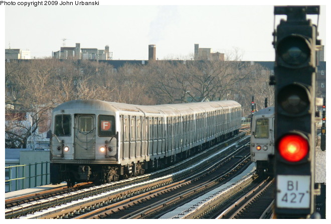 (102k, 660x447)<br><b>Country:</b> United States<br><b>City:</b> New York<br><b>System:</b> New York City Transit<br><b>Line:</b> BMT Culver Line<br><b>Location:</b> Avenue P <br><b>Route:</b> F<br><b>Car:</b> R-40M (St. Louis, 1969)  4486 <br><b>Photo by:</b> John Urbanski<br><b>Date:</b> 3/5/2009<br><b>Viewed (this week/total):</b> 4 / 780