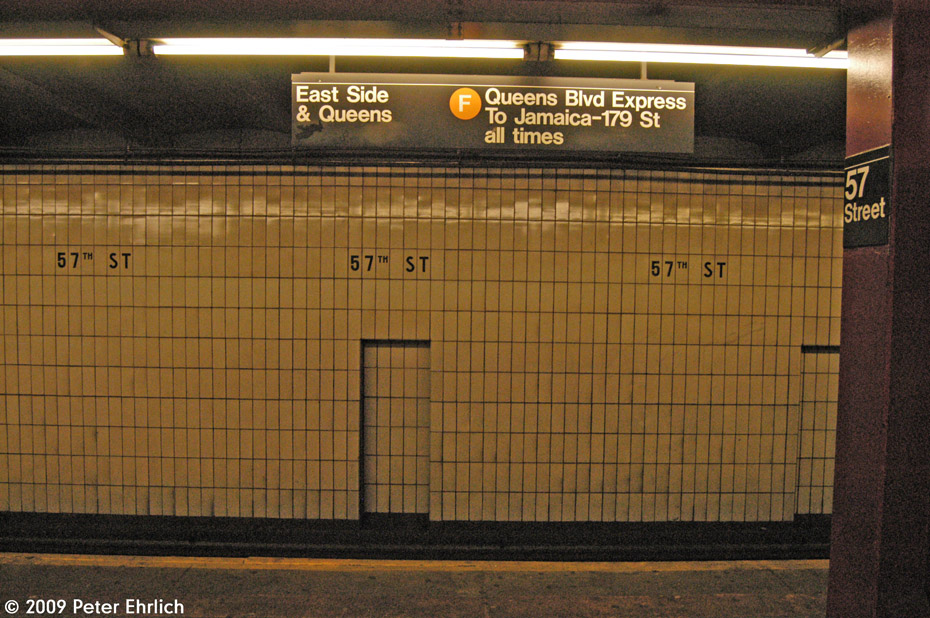 (253k, 930x618)<br><b>Country:</b> United States<br><b>City:</b> New York<br><b>System:</b> New York City Transit<br><b>Line:</b> IND 6th Avenue Line<br><b>Location:</b> 57th Street <br><b>Photo by:</b> Peter Ehrlich<br><b>Date:</b> 3/4/2009<br><b>Viewed (this week/total):</b> 4 / 790