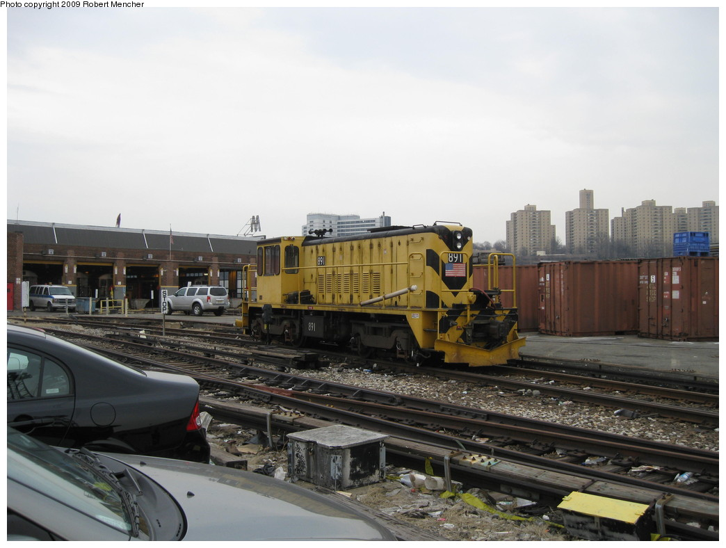 (188k, 1044x788)<br><b>Country:</b> United States<br><b>City:</b> New York<br><b>System:</b> New York City Transit<br><b>Location:</b> 207th Street Yard<br><b>Car:</b> R-77 Locomotive  891 <br><b>Photo by:</b> Robert Mencher<br><b>Date:</b> 3/7/2009<br><b>Viewed (this week/total):</b> 2 / 428