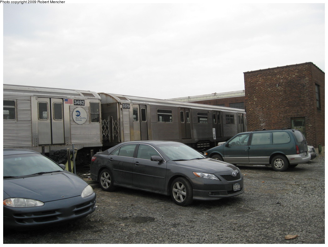 (189k, 1044x788)<br><b>Country:</b> United States<br><b>City:</b> New York<br><b>System:</b> New York City Transit<br><b>Location:</b> 207th Street Yard<br><b>Car:</b> R-32 (Budd, 1964)  3379 <br><b>Photo by:</b> Robert Mencher<br><b>Date:</b> 3/7/2009<br><b>Viewed (this week/total):</b> 0 / 766