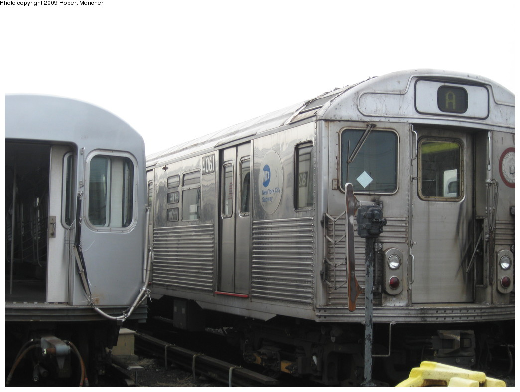 (150k, 1044x788)<br><b>Country:</b> United States<br><b>City:</b> New York<br><b>System:</b> New York City Transit<br><b>Location:</b> 207th Street Yard<br><b>Car:</b> R-38 (St. Louis, 1966-1967)  4061 <br><b>Photo by:</b> Robert Mencher<br><b>Date:</b> 3/7/2009<br><b>Viewed (this week/total):</b> 5 / 1075