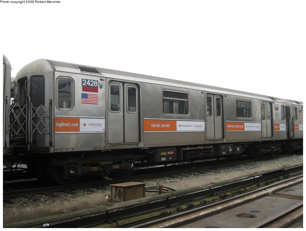 (159k, 1044x788)<br><b>Country:</b> United States<br><b>City:</b> New York<br><b>System:</b> New York City Transit<br><b>Location:</b> 207th Street Yard<br><b>Car:</b> R-62A (Bombardier, 1984-1987)  2428 <br><b>Photo by:</b> Robert Mencher<br><b>Date:</b> 3/7/2009<br><b>Viewed (this week/total):</b> 0 / 597