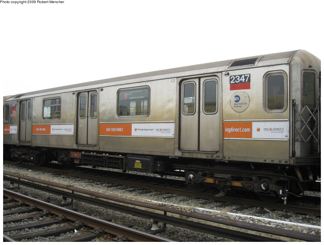 (183k, 1044x788)<br><b>Country:</b> United States<br><b>City:</b> New York<br><b>System:</b> New York City Transit<br><b>Location:</b> 207th Street Yard<br><b>Car:</b> R-62A (Bombardier, 1984-1987)  2347 <br><b>Photo by:</b> Robert Mencher<br><b>Date:</b> 3/7/2009<br><b>Viewed (this week/total):</b> 2 / 579