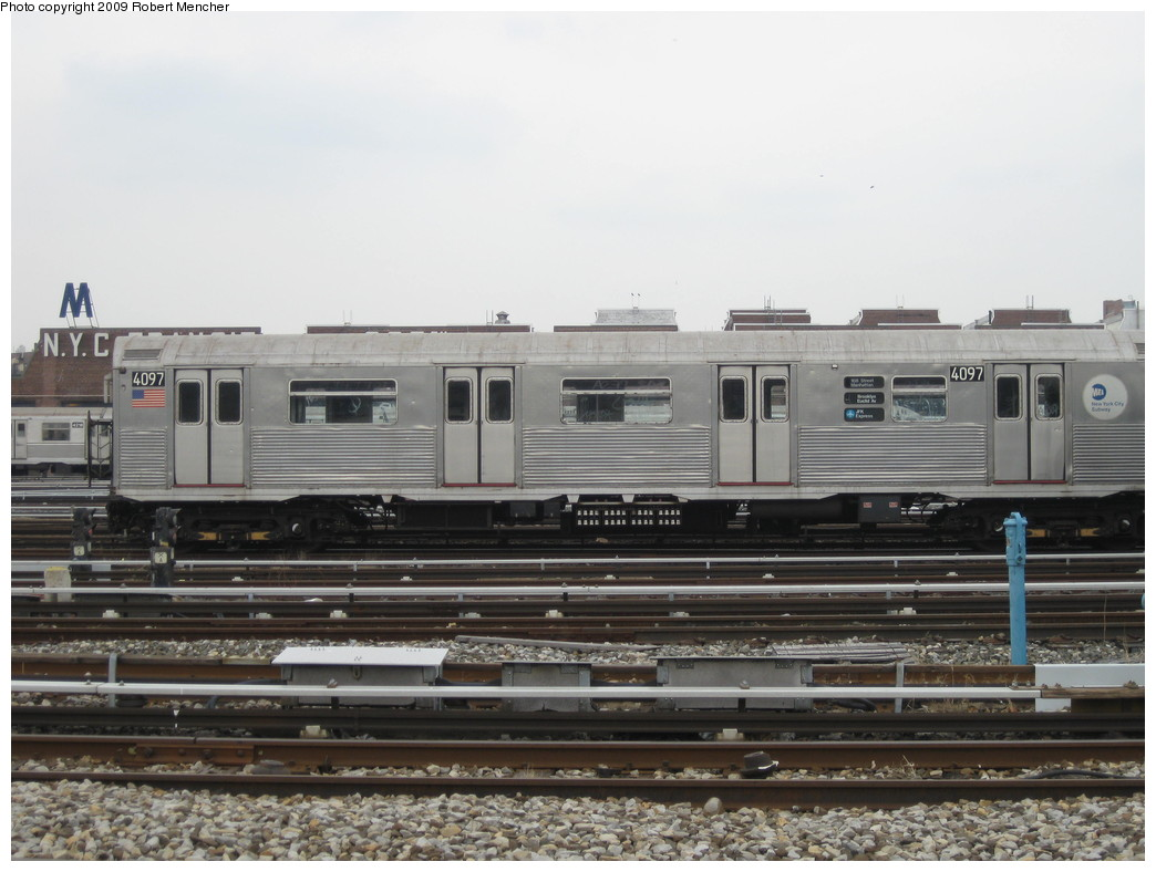 (186k, 1044x788)<br><b>Country:</b> United States<br><b>City:</b> New York<br><b>System:</b> New York City Transit<br><b>Location:</b> 207th Street Yard<br><b>Car:</b> R-38 (St. Louis, 1966-1967)  4097 <br><b>Photo by:</b> Robert Mencher<br><b>Date:</b> 3/7/2009<br><b>Viewed (this week/total):</b> 2 / 616
