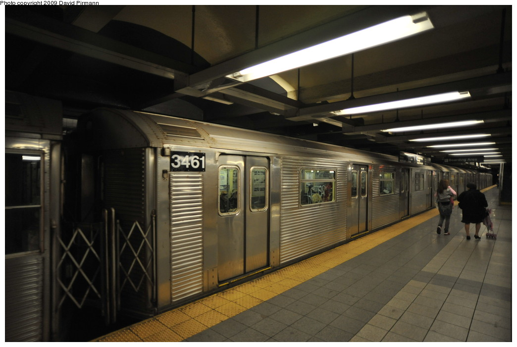 (215k, 1044x701)<br><b>Country:</b> United States<br><b>City:</b> New York<br><b>System:</b> New York City Transit<br><b>Line:</b> IND 8th Avenue Line<br><b>Location:</b> 14th Street <br><b>Route:</b> A<br><b>Car:</b> R-32 (Budd, 1964)  3461 <br><b>Photo by:</b> David Pirmann<br><b>Date:</b> 3/15/2009<br><b>Viewed (this week/total):</b> 0 / 431