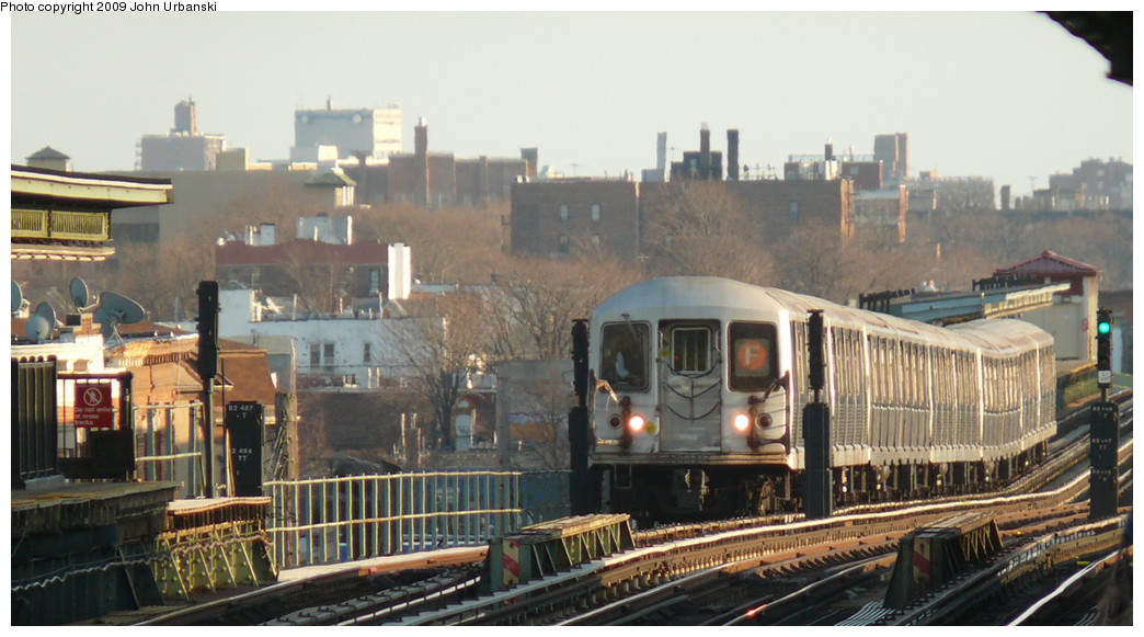 (223k, 1044x581)<br><b>Country:</b> United States<br><b>City:</b> New York<br><b>System:</b> New York City Transit<br><b>Line:</b> BMT Culver Line<br><b>Location:</b> Avenue I <br><b>Route:</b> F<br><b>Car:</b> R-42 (St. Louis, 1969-1970)  4666 <br><b>Photo by:</b> John Urbanski<br><b>Date:</b> 3/17/2009<br><b>Viewed (this week/total):</b> 2 / 1325