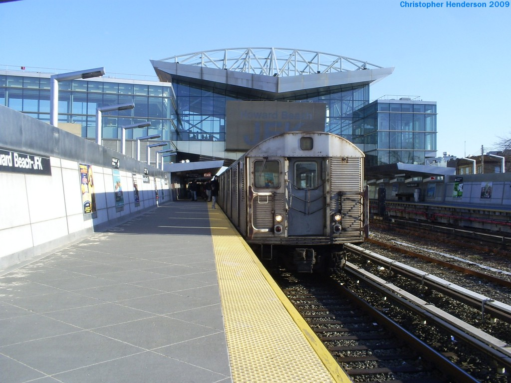 (195k, 1024x768)<br><b>Country:</b> United States<br><b>City:</b> New York<br><b>System:</b> New York City Transit<br><b>Line:</b> IND Rockaway<br><b>Location:</b> Howard Beach <br><b>Route:</b> A<br><b>Car:</b> R-32 (Budd, 1964)  3738 <br><b>Photo by:</b> Christopher Henderson<br><b>Date:</b> 3/23/2009<br><b>Viewed (this week/total):</b> 2 / 1083