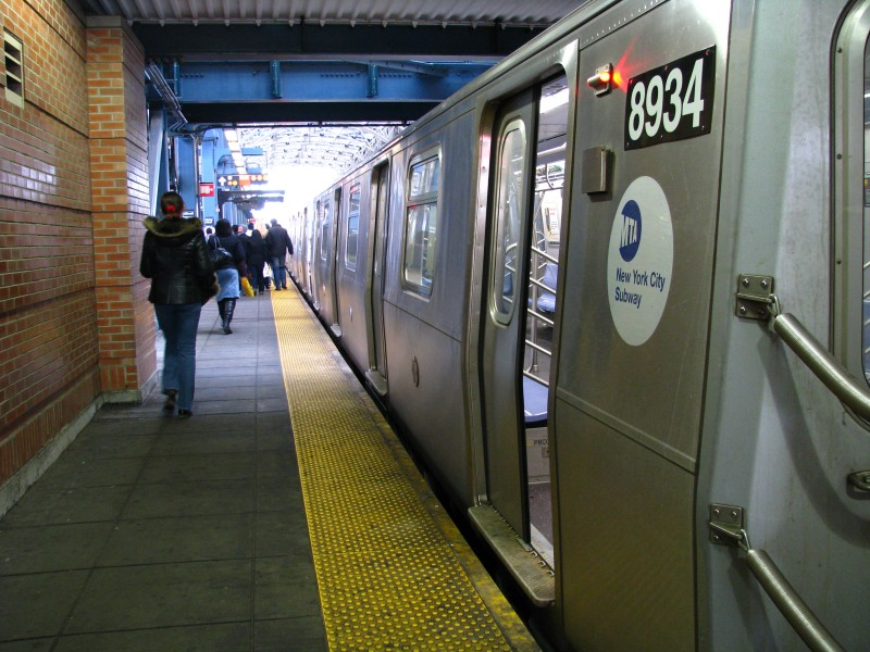 (141k, 800x600)<br><b>Country:</b> United States<br><b>City:</b> New York<br><b>System:</b> New York City Transit<br><b>Location:</b> Coney Island/Stillwell Avenue<br><b>Route:</b> N<br><b>Car:</b> R-160B (Kawasaki, 2005-2008)  8934 <br><b>Photo by:</b> Bill E.<br><b>Date:</b> 3/14/2009<br><b>Viewed (this week/total):</b> 1 / 865