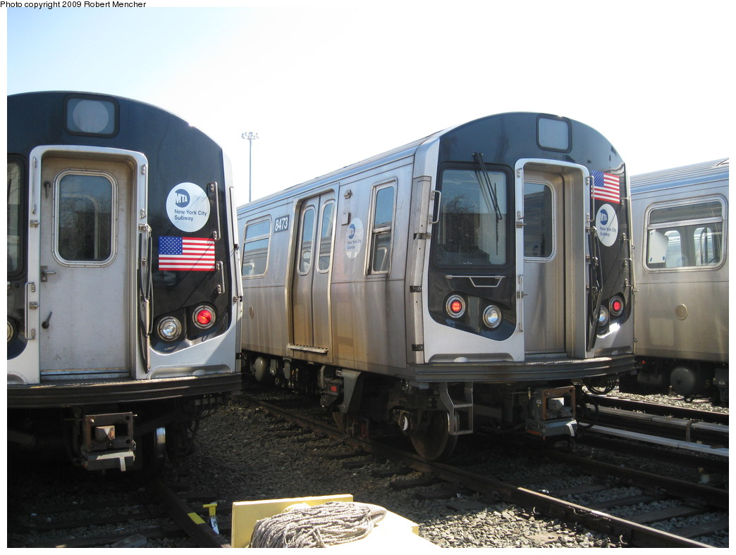 (194k, 1044x788)<br><b>Country:</b> United States<br><b>City:</b> New York<br><b>System:</b> New York City Transit<br><b>Location:</b> East New York Yard/Shops<br><b>Car:</b> R-160A-1 (Alstom, 2005-2008, 4 car sets)  8473 <br><b>Photo by:</b> Robert Mencher<br><b>Date:</b> 3/23/2009<br><b>Viewed (this week/total):</b> 1 / 790
