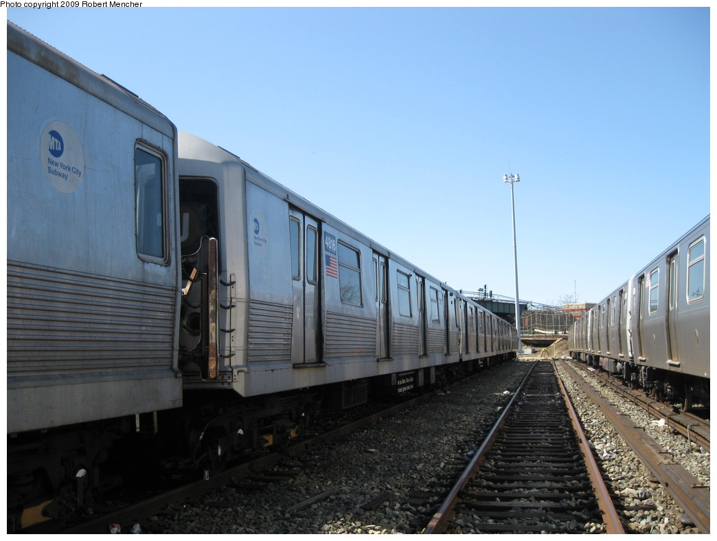 (185k, 1044x788)<br><b>Country:</b> United States<br><b>City:</b> New York<br><b>System:</b> New York City Transit<br><b>Location:</b> East New York Yard/Shops<br><b>Car:</b> R-42 (St. Louis, 1969-1970)  4816 <br><b>Photo by:</b> Robert Mencher<br><b>Date:</b> 3/23/2009<br><b>Viewed (this week/total):</b> 2 / 334