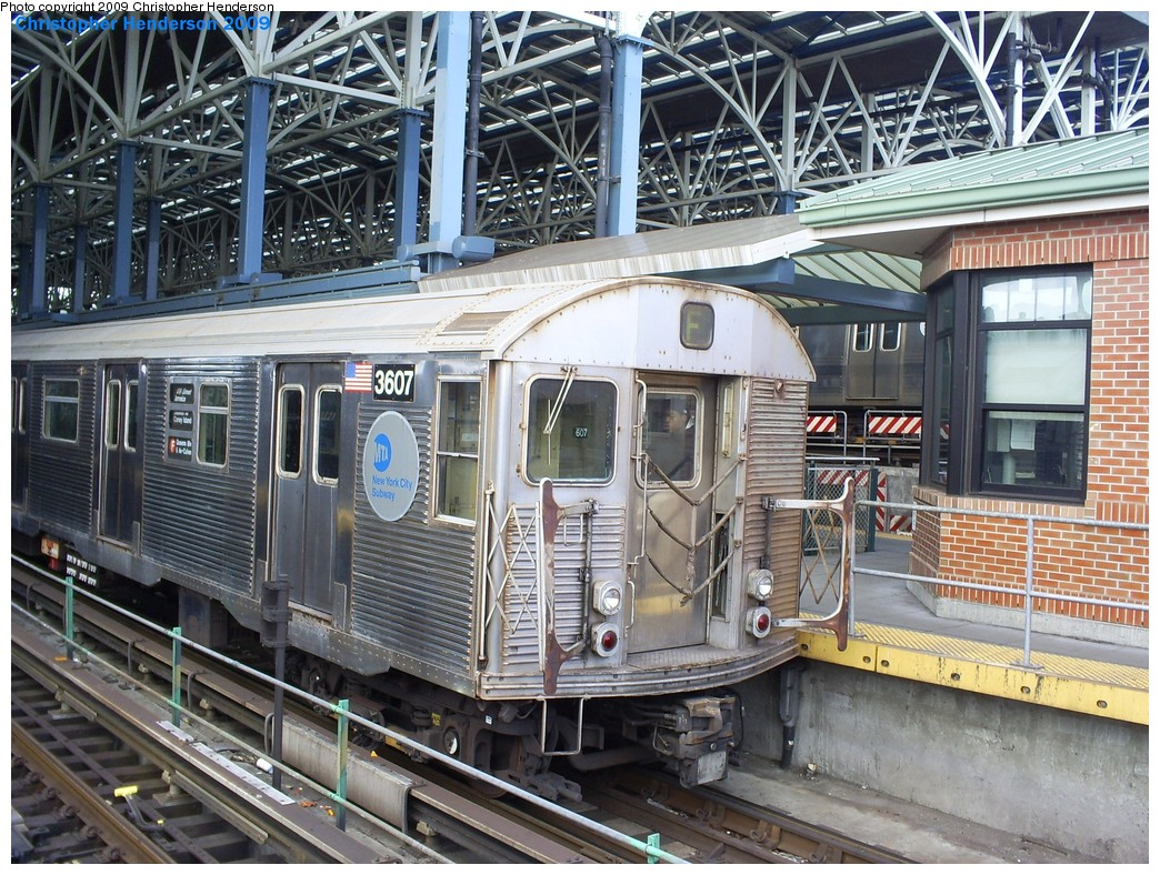 (298k, 1044x788)<br><b>Country:</b> United States<br><b>City:</b> New York<br><b>System:</b> New York City Transit<br><b>Location:</b> Coney Island/Stillwell Avenue<br><b>Route:</b> F<br><b>Car:</b> R-32 (Budd, 1964)  3445 <br><b>Photo by:</b> Christopher Henderson<br><b>Date:</b> 3/30/2009<br><b>Viewed (this week/total):</b> 4 / 1256
