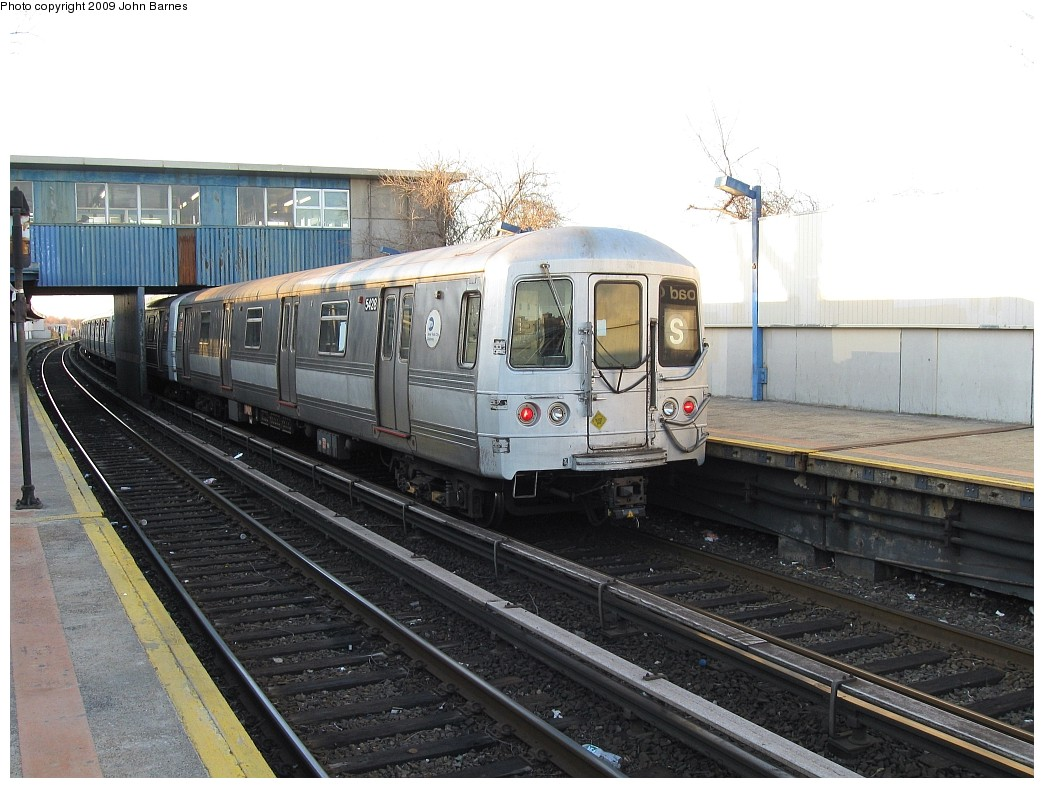 (216k, 1044x788)<br><b>Country:</b> United States<br><b>City:</b> New York<br><b>System:</b> New York City Transit<br><b>Line:</b> IND Rockaway<br><b>Location:</b> Broad Channel <br><b>Route:</b> S<br><b>Car:</b> R-44 (St. Louis, 1971-73) 5428 <br><b>Photo by:</b> John Barnes<br><b>Date:</b> 3/31/2009<br><b>Viewed (this week/total):</b> 1 / 984