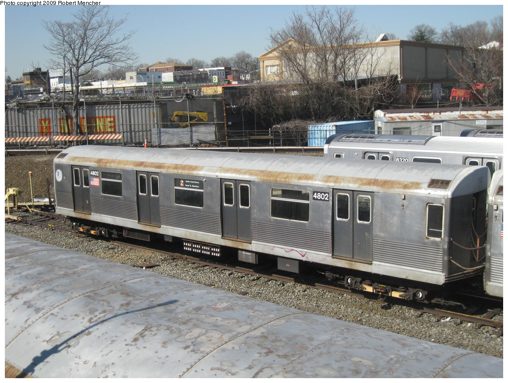 (283k, 1044x788)<br><b>Country:</b> United States<br><b>City:</b> New York<br><b>System:</b> New York City Transit<br><b>Location:</b> East New York Yard/Shops<br><b>Car:</b> R-42 (St. Louis, 1969-1970)  4802 <br><b>Photo by:</b> Robert Mencher<br><b>Date:</b> 3/31/2009<br><b>Viewed (this week/total):</b> 1 / 826