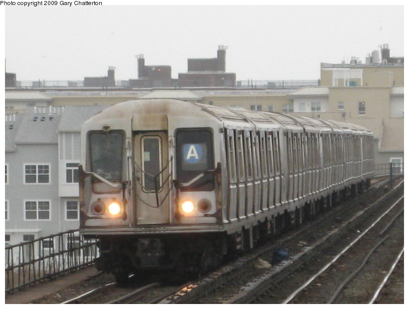 (109k, 820x620)<br><b>Country:</b> United States<br><b>City:</b> New York<br><b>System:</b> New York City Transit<br><b>Line:</b> IND Rockaway<br><b>Location:</b> Beach 67th Street/Gaston Avenue <br><b>Route:</b> A<br><b>Car:</b> R-40 (St. Louis, 1968)  4292 <br><b>Photo by:</b> Gary Chatterton<br><b>Date:</b> 4/1/2009<br><b>Viewed (this week/total):</b> 2 / 529