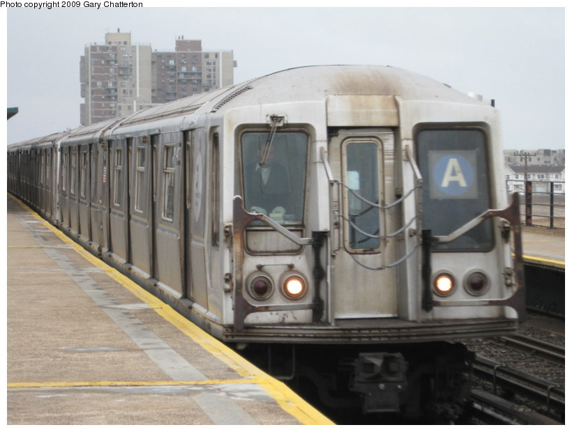 (111k, 820x620)<br><b>Country:</b> United States<br><b>City:</b> New York<br><b>System:</b> New York City Transit<br><b>Line:</b> IND Rockaway<br><b>Location:</b> Beach 67th Street/Gaston Avenue <br><b>Route:</b> A<br><b>Car:</b> R-40 (St. Louis, 1968)  4178 <br><b>Photo by:</b> Gary Chatterton<br><b>Date:</b> 4/1/2009<br><b>Viewed (this week/total):</b> 1 / 433