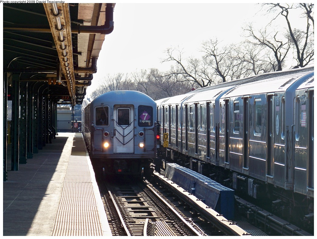 (284k, 1044x788)<br><b>Country:</b> United States<br><b>City:</b> New York<br><b>System:</b> New York City Transit<br><b>Line:</b> IRT Flushing Line<br><b>Location:</b> Willets Point/Mets (fmr. Shea Stadium) <br><b>Route:</b> 7<br><b>Car:</b> R-62A (Bombardier, 1984-1987)  2088 <br><b>Photo by:</b> David Tropiansky<br><b>Date:</b> 4/9/2009<br><b>Viewed (this week/total):</b> 0 / 754