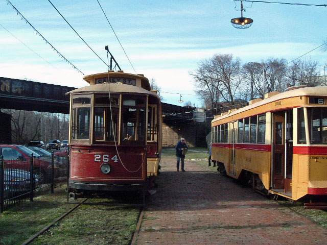 (122k, 640x480)<br><b>Country:</b> United States<br><b>City:</b> Baltimore, MD<br><b>System:</b> Baltimore Streetcar Museum <br><b>Car:</b>  264 <br><b>Photo by:</b> Brian J. Cudahy<br><b>Date:</b> 1/15/2004<br><b>Viewed (this week/total):</b> 1 / 513