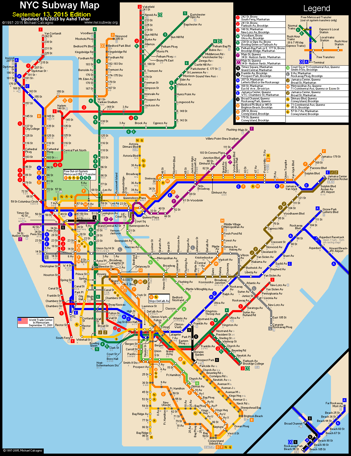 Nyc Subway System Map